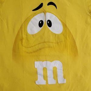 🟣M & M•Yellow M& M face•s/s•EUC•size 2XL